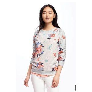 floral sweatshirt old navy